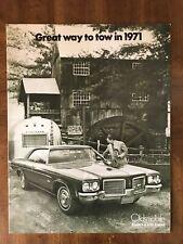 Vintage 1971 Oldsmobile.8 Page Dealer Brochure Jenny Motor Co. Norfolk, Ne