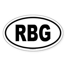 CafePress RBG Oval Sticker Oval Bumper Sticker, Euro Oval Car Decal (215340863)