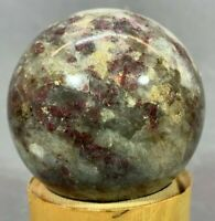 LEPIDOLITE SPHERE - 44 MM - 4.25 OZ (122 G)  MANY CRYSTAL THROUGHOUT THE SPHERE