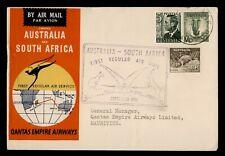 New ListingDr Who 1952 Australia First Flight Qantas Sydney To Mauritius e94504