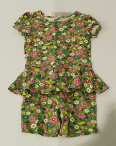 Dot Dot Smile Girl's Pull-On One-Piece Romper LV5 Green Meadow Size 3/4 NWT