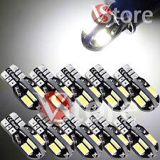 10 Led T10 Lámparas No Error Can-bus 8SMD 5730 Cruz Luz Ubicación Matrícula