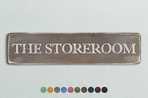 THE STOREROOM Vintage Style Wooden Sign. Shabby Chic Retro Home Gift