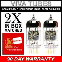 New Gain Matched Pair (2) Genalex Reissue 12AU7 ECC82 GOLD PINS Vacuum Tubes
