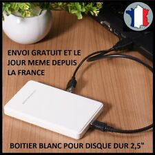 """BOITIER POUR DISQUE DUR 2.5"""" USB 2.0 HDD EXTERNE SATA SSD STOCKAGE PROTECTION B"""