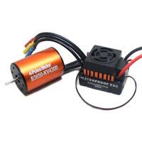 4300KV Waterproof 3650 Brushless Motor w/ 60A ESC Combo for 1/10 RC Car W9M5