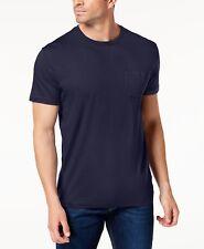 New Mens Club Room Crew Neck Navy Blue Solid Short Sleeve T Shirt Tee S
