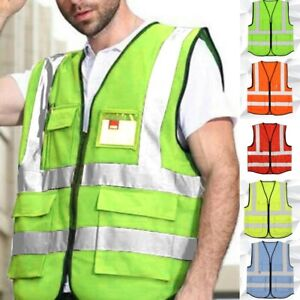High New Strips Color Security Hi-vis Waistcoat With Vest W/ Reflective Safety
