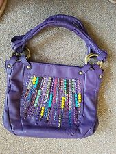 Ladies butterfly by mathew williamson purple leather handbag 25.00