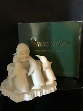 """Department 56 SNOWBABIES Bisque Figurine """"WHAT SHALL WE DO TODAY''"""