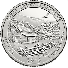 US QUARTER DOLLAR UNC 2014 TENNESSEE GREAT SMOKY MOUNTAINS S P D Mint COINS