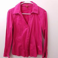 Talbots Blouse Shirt Top Women's Size 10 Pink Button Down Cotton