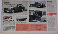 Article Articolo 1970 HONDA S 800 COUPE'