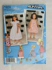 Simplicity 1924  sewing pattern girls dress with bodice  sz 6 mths to 3  UNCUT