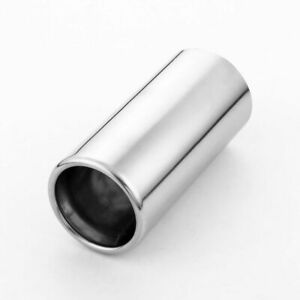 """Stainless Steel 2.91"""" Inlet Exhaust Tailpipe Tip Weld On 3"""" Out 6.38"""" L Rolled"""