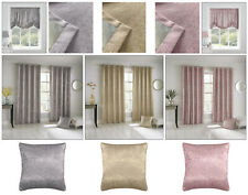 Glitter Shimmer Eyelet Top Curtains Metallic Sparkle Thermal Block-Out Curtains