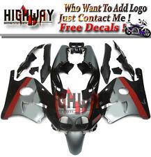 Plastic Injection Black Silver Red Fairings Kit For Honda CBR250RR MC22 90-94