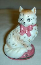 Staffordshire Cat Figurine – Franklin Mint -- Curio Cabinet Cats Collection