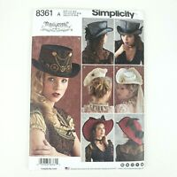 Simplicity Pattern • 8361 • Size A S-L • Womens Misses Hats in Three Sizes