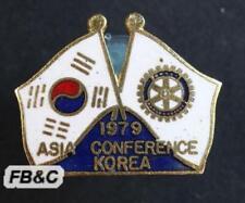 1979 Rotary International Asia Conference Enamel Badge - Korea