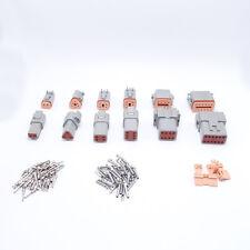 6 Sets 6 Models Deutsch 2/3/4/6/8/12 Pins  Waterproof Electrical Connector Plugs
