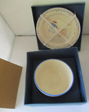 COUNTRY CORNER DECORATION & EMOTION CHILD'S PLATE & BOWL SET - FRANCE - #1