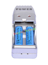 2 AAA NiMH rechargeable battery +USB Charger MP3 blue