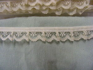 Gathered Narrow Deep Cream Lace 20 meters (134A)