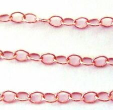 5 ft 14k ROSE Gold Filled Cable Chain 3mm x 2.2mm sold by foot loose chain rch02