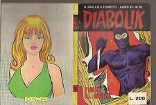 DIABOLIK ANNO VI°-6° n° 10 - 1967 -ORIGINALE OTTIMO / EDICOLA