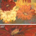 "36""x24"" FIESTA SUMMER I by PAMELA LUER WARM ORANGE RED AND WHITE FLOWERS CANVAS"