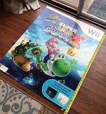 "Nintendo Super Mario Bros Wii Store Sign 30""X 36"" RARE -Game Room Decor Poster"