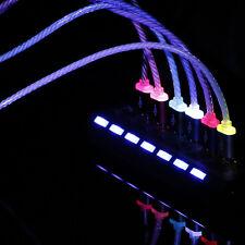 Brilla en la oscuridad luminoso led Sincronización Datos USB CABLE CARGADOR PARA