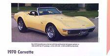 1970 Chevrolet Corvette LS5 LT1 info/specs/photo/prices production numbers 11x8