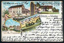 Litho / Lithografie WORMLAGE (Großräschen b Finsterwalde, Senftenberg, Schipkau)
