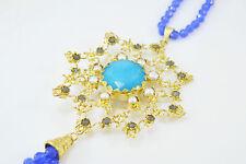 Ottomam Gems semi precious stone gold necklace choker Pearl Jade Agates Handmade