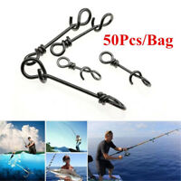 50Pcs Stainless Steel Connector Fishing Fastach Clips Fishing Snaps Quickly Lock