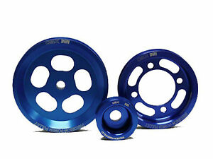 OBX Blue Overdrive Pulley Fit 92 93 94 95 96 97 98 2JZ-GE Supra GS300 SC300 3.0L