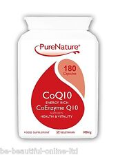 180 Co-Enzyme CoQ10 100mg to support wellbeing of heart liver skin body Vegi cap