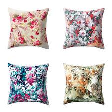 IT- Vintage Floral Pillow Case Soft Waist Cushion Cover Car Sofa Home Decor Eyef