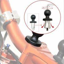 Motorcycle Bike Fork Stem Metal Base W//Ball Phone Camera Holder RAM Mount New