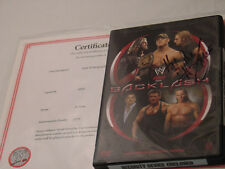 WWE Triple H signed Backlash 2006  DVD w/ WWE COA