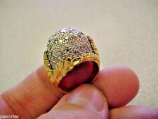 18K Size 6 Make Offer Gorgeous Estate 2.20ctw Pave Dome Ring