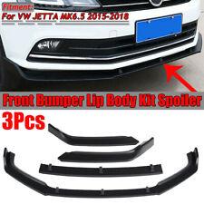 For 2015-2018 VW JETTA MK6.5 Matte Black Front Bumper Lip Body Kit   !*