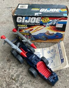 1988 Hasbro GI Joe Cobra Adder vehicle-100% complete w/rough box