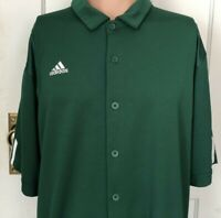Adidas Climacool Shirt Mens Size Large Green L Polo Rugby