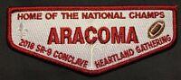 ARACOMA OA LODGE 481 BSA BLACK WARRIOR COUNCIL 2018 SR-9 CONCLAVE DELEGATE FLAP