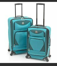 Travelers Sky Blue Protege 2-Piece Spacious Expandable Spinner Set Luggage