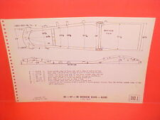 1946 1947 1948 DODGE DELUXE CUSTOM CONVERTIBLE COUPE SEDAN FRAME DIMENSION CHART