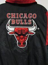 Vintage 90s Starter Jacket Chicago Bulls Windbreaker Basketball NBA Large Hiphop